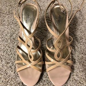 Never worn nude patent sandals